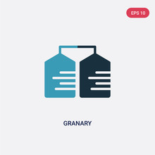 Two Color Granary Vector Icon ...