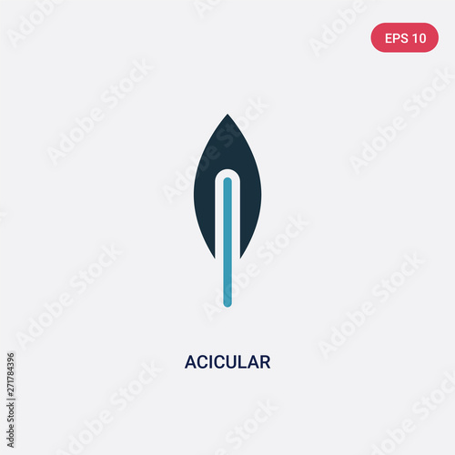 Photo two color acicular vector icon from nature concept
