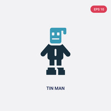 Two Color Tin Man Vector Icon ...