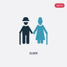 Two Color Elder Vector Icon Fr...