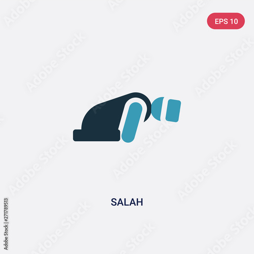 two color salah vector icon from religion-2 concept Canvas Print