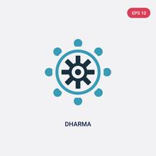 Two Color Dharma Vector Icon F...