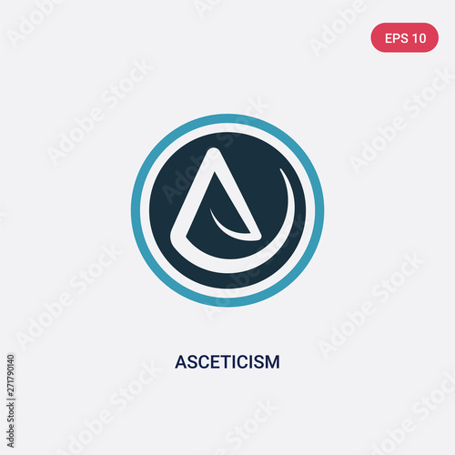 two color asceticism vector icon from religion concept Wallpaper Mural