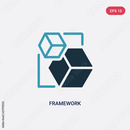 two color framework vector icon from shapes concept Wallpaper Mural