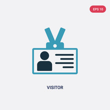 Two Color Visitor Vector Icon ...