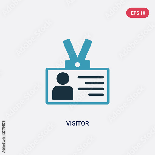 Photo two color visitor vector icon from strategy concept