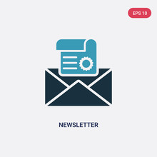 Two Color Newsletter Vector Ic...