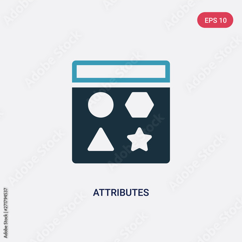 two color attributes vector icon from technology concept Wallpaper Mural