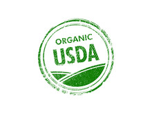 USDA Organic Vector Stamp On White Background