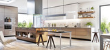 Modern kitchen interior design in a luxury house