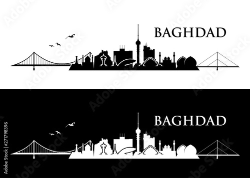 Photo  Baghdad skyline - Iraq - vector illustration - Vector