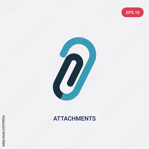 Photo two color attachments vector icon from tools and utensils concept