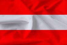 Beautiful Silk Flag Of Austria...