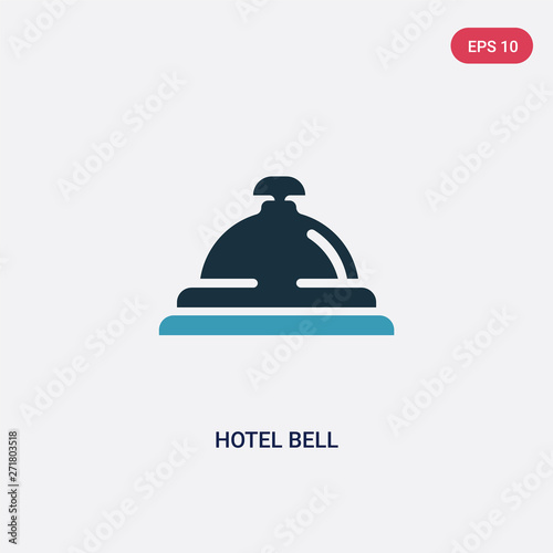 Fotografía two color hotel bell vector icon from travel 2 concept