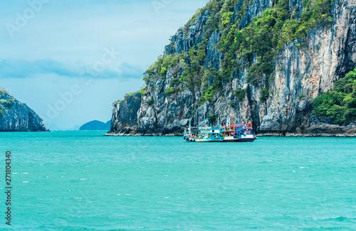 Poster Vert corail Beautiful blue sea in Thailand