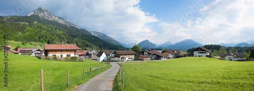 plakat Ferienort Rubi bei Oberstdorf mit Spazierweg