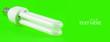 Leinwandbild Motiv Lamp details on green background with copy space