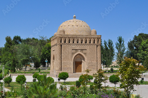 The Samanid mausoleum is located in the historical urban nucleus of the city of Bukhara, Uzbekistan Fototapeta