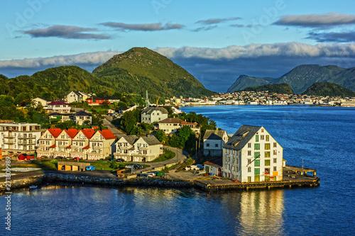 Photo Norway. Alesund town, Norwegian fjords