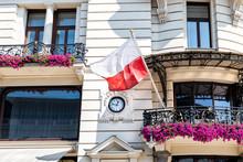 Warsaw, Poland Closeup Of Poli...