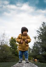 Boy In Yellow Windbreaker