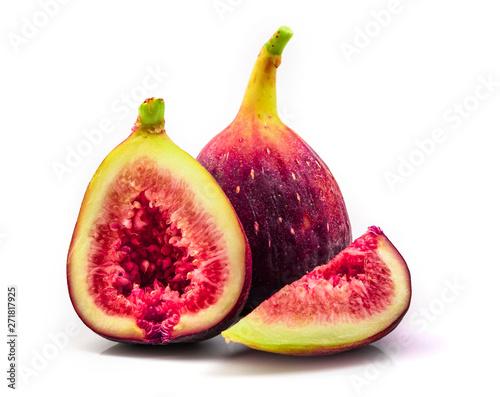 fresh figs isolated on white background - 271817925