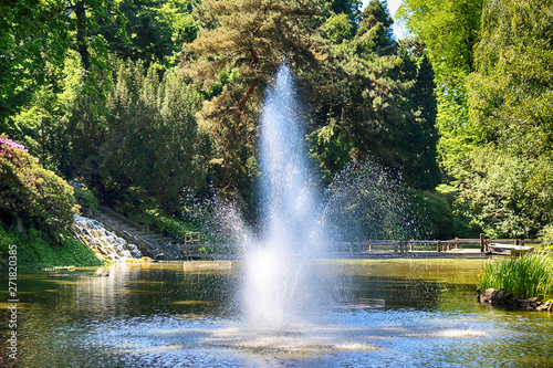Foto auf AluDibond Pistazie WROCLAW, POLAND - MAY 30, 2019: Botanical Garden in Wroclaw, Poland. The garden was built from 1811 to 1816 on the Cathedral Island (Ostrow Tumski), the oldest part of the city.