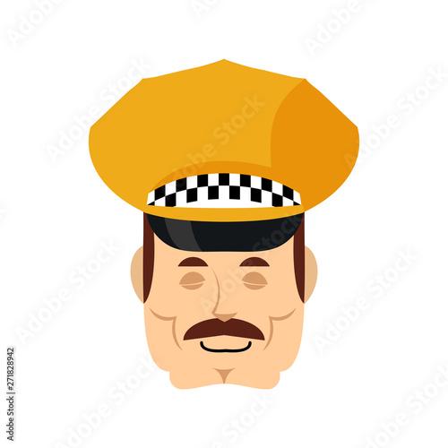 Canvastavla Taxi driver sleeping emoji