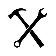 klucz i młotek ikona