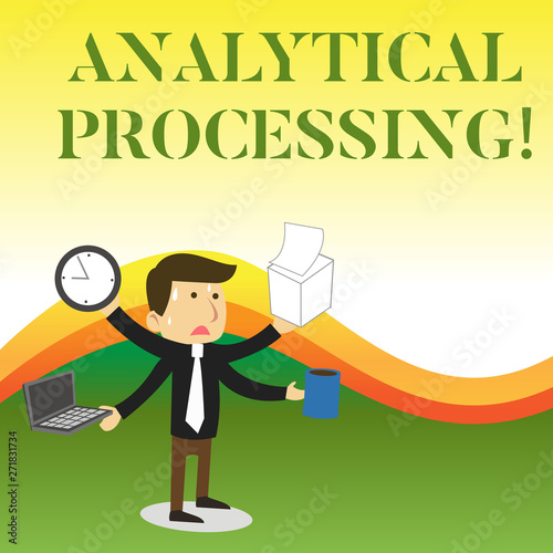 Text sign showing Analytical Processing  Business photo