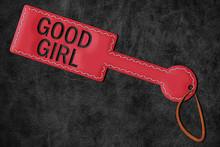 Good Girl Paddle BDSM Spanking Poster