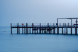 View of the Mediterranean Sea and the pier