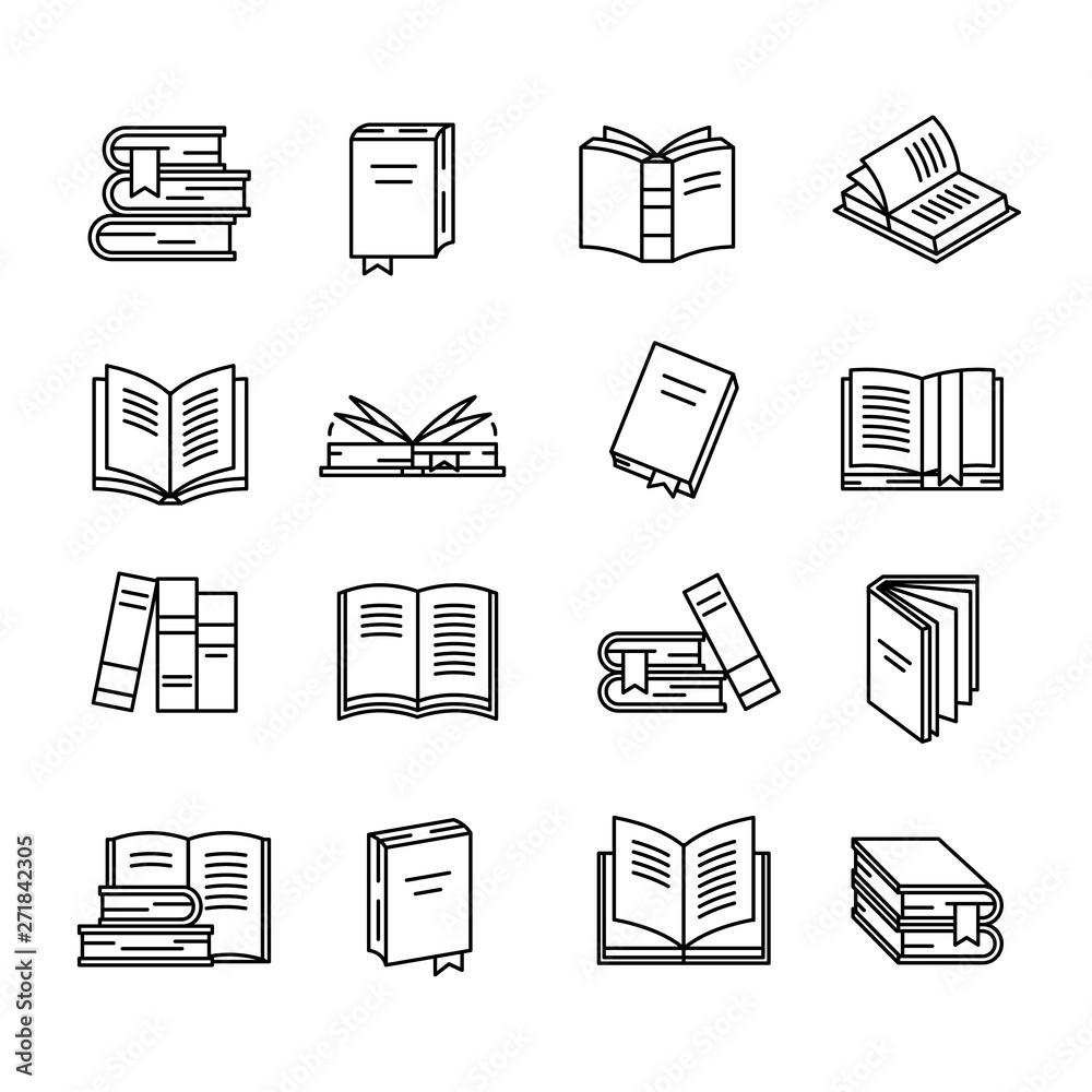 Fototapety, obrazy: Book icon set