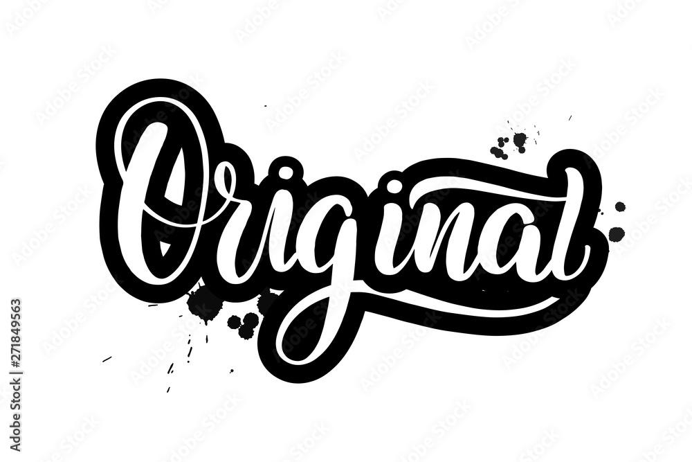 Fototapeta brush lettering original