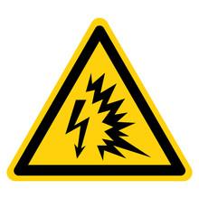 Arc Flash Symbol Sign Isolate On White Background,Vector Illustration