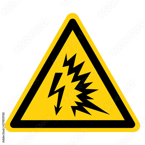 Obraz Arc Flash Symbol Sign Isolate On White Background,Vector Illustration - fototapety do salonu