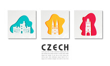 Czech Landmark Global Travel And Journey Paper Background. Vector Design Template.used For Your Advertisement, Book, Banner, Template, Travel Business Or Presentation.