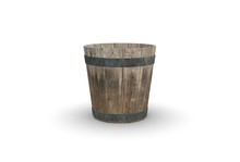 Wood Bucket Isolated On White ...