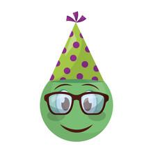 Smiley Emoji Party Hat