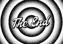 The End Movie Titles With Circles And Retro Stipple Style