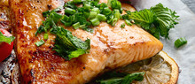 Grilled Salmon With Lemon And ...