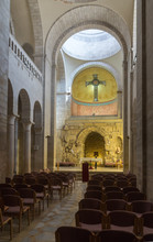 Prayer Hall In Church In Holy Place Of Sisters Notre Dame De Sion Near To Lion Gate In The Old City Of Jerusalem, Israel