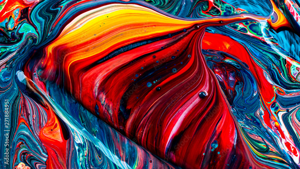 Fototapeta Art of acrylic color abstract background
