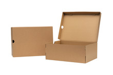 Brown Cardboard Shoes Box With...