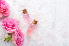 Two Bottles With Rose Oil, Cry...