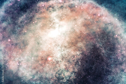 Photo sur Toile Les Textures Cosmic universe star cloud and galaxy
