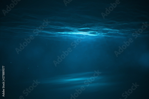 Underwater scene with light Fototapet