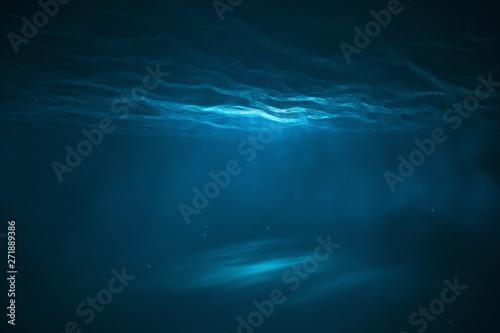 Obraz Underwater scene with light - fototapety do salonu