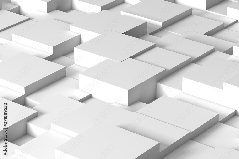 Abstract white squares