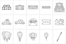 Hand Drawn Logo Elements And Icons